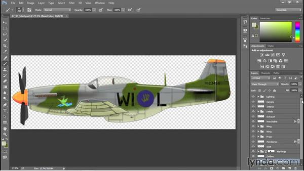 Saving a master file: Creating Aircraft Profiles with Adobe Illustrator and Photoshop