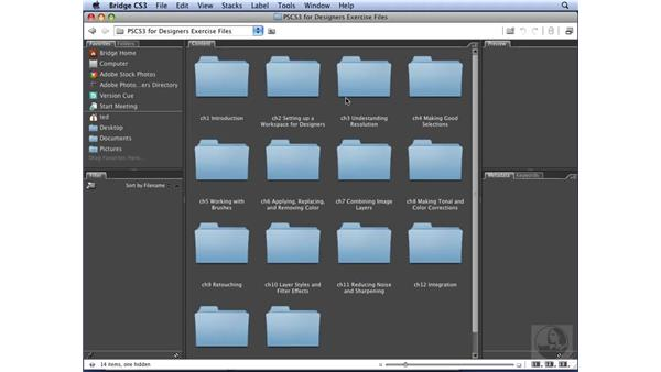 Using the exercise files: Photoshop CS3 for Designers