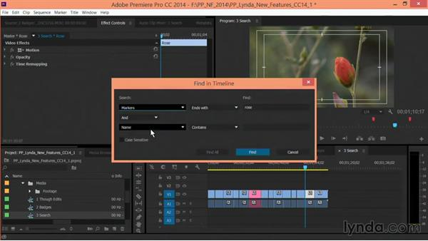 Searching in a Timeline: Premiere Pro: Creative Cloud Updates