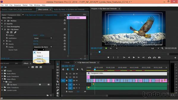 The Clip Name effect: Premiere Pro: Creative Cloud Updates