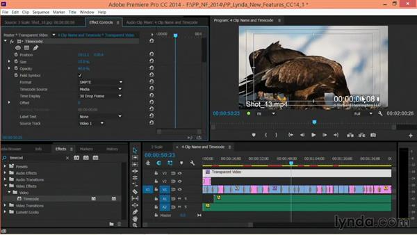 The Timecode effect: Premiere Pro: Creative Cloud Updates