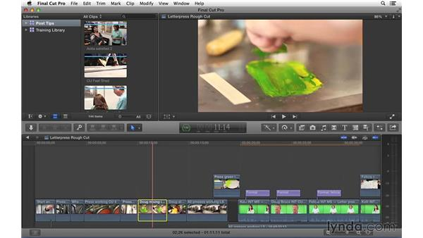 Exploring clip moving and manipulation in Final Cut Pro X: Video Post Tips Weekly