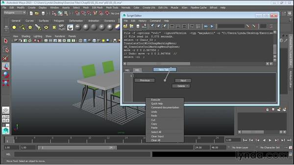Understanding the Script Editor: Up and Running with MEL Scripting in Maya