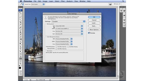 Choosing proper color management settings: Photoshop CS3 for Designers