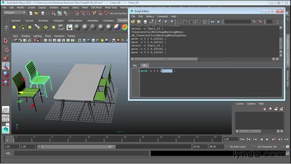 Creating scripts in the Script Editor: Up and Running with MEL Scripting in Maya