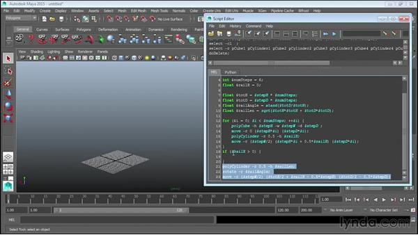 Making decisions with if statements: Up and Running with MEL Scripting in Maya