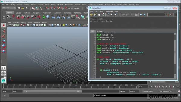 Adding comments and finalizing scripts: Up and Running with MEL Scripting in Maya