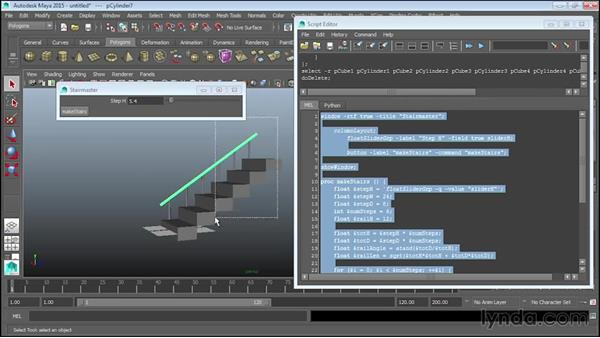 Making a stair generator interface: Up and Running with MEL Scripting in Maya