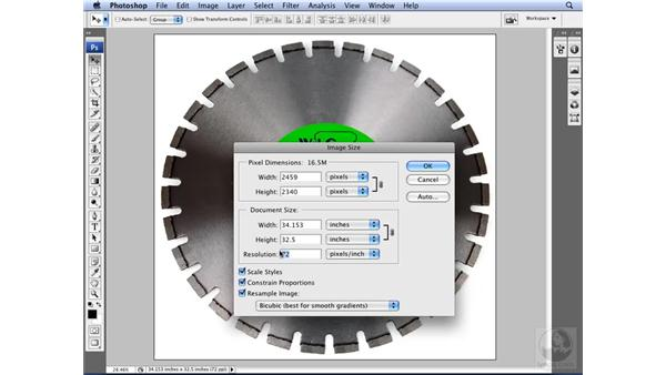 Resizing and resampling: Photoshop CS3 for Designers