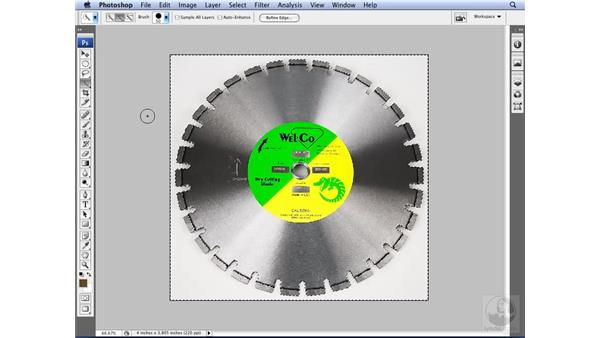 Using the new Quick Selection tool: Photoshop CS3 for Designers