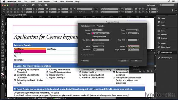 166 Creating blank entry spaces on forms: InDesign Secrets