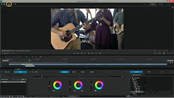 Sending a project back to Premiere Pro: Premiere Pro Guru: Lumetri Workflows using SpeedGrade and Direct Link