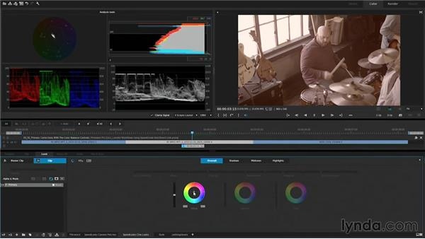 Primary corrections with the color balance controls: Premiere Pro Guru: Lumetri Workflows using SpeedGrade and Direct Link