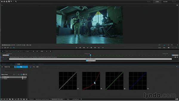 Using curves: Premiere Pro Guru: Lumetri Workflows using SpeedGrade and Direct Link