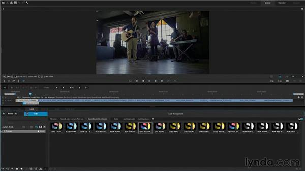 Organizing looks with the Look Manager: Premiere Pro Guru: Lumetri Workflows using SpeedGrade and Direct Link