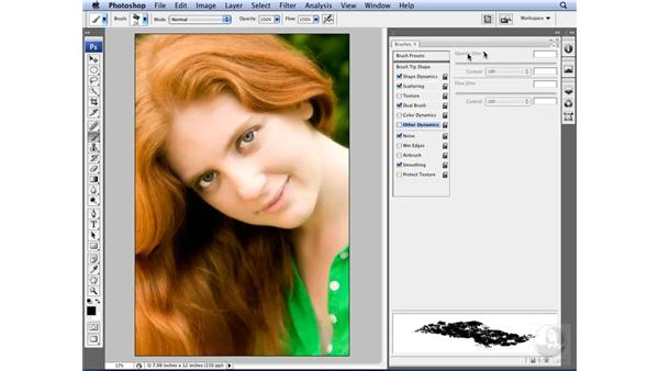 Editing and saving brush settings: Photoshop CS3 for Designers