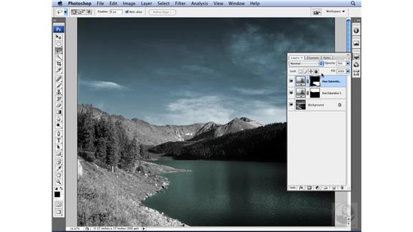 Colorizing a grayscale image: Photoshop CS3 for Designers