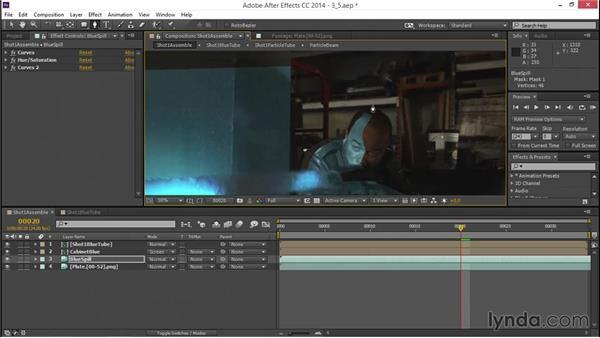 Creating light spills: VFX Techniques: Creating a Laser Battle