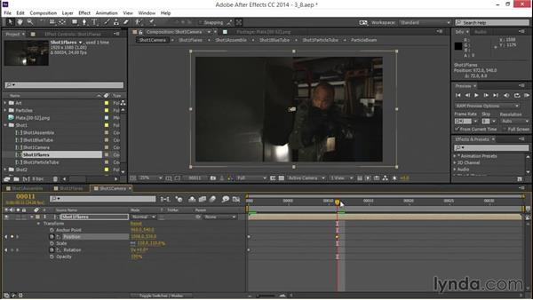 Animating a post camera move: VFX Techniques: Creating a Laser Battle