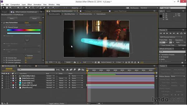 Adding interactive light: VFX Techniques: Creating a Laser Battle