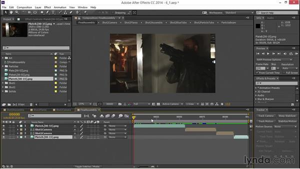 Combining the shots: VFX Techniques: Creating a Laser Battle