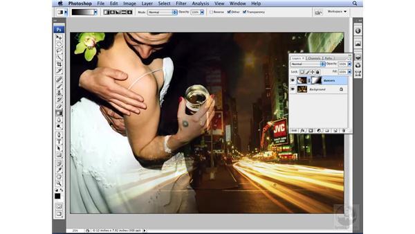 Utilizing blend options: Photoshop CS3 for Designers