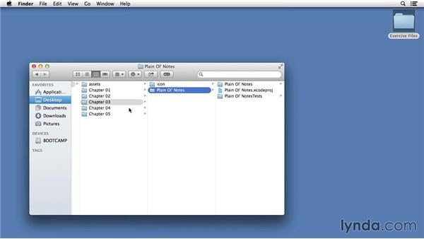 Using the exercise files: Building a Note-Taking App for iOS 8