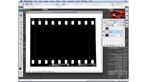 Creating a clipping mask: Photoshop CS3 for Designers