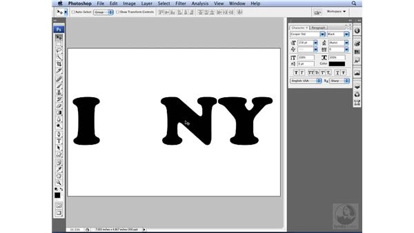 Creating a type mask: Photoshop CS3 for Designers