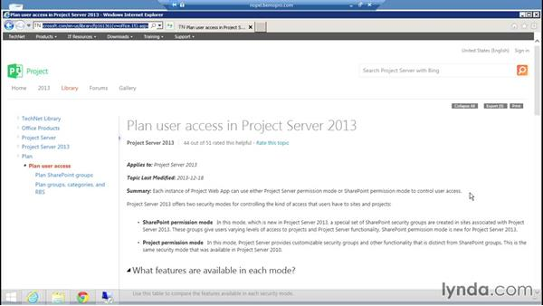 Managing permissions: Microsoft Project Server 2013 Administration