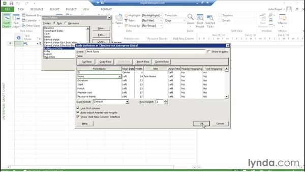 Working with Enterprise Global: Microsoft Project Server 2013 Administration