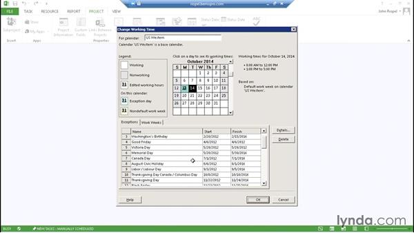 Working with enterprise calendars: Microsoft Project Server 2013 Administration