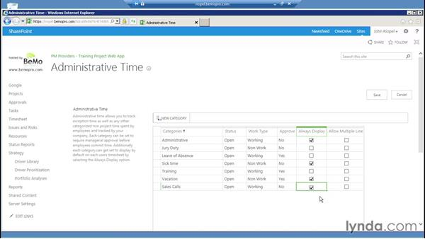 Understanding administrative time: Microsoft Project Server 2013 Administration