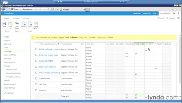 Managing timesheets and managers: Microsoft Project Server 2013 Administration