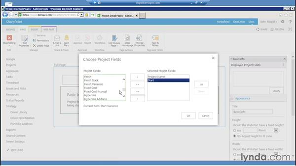 Working with Project Detail pages: Microsoft Project Server 2013 Administration