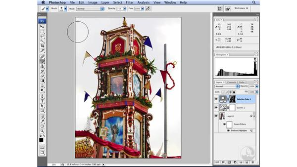 Applying selective color adjustments: Photoshop CS3 for Designers