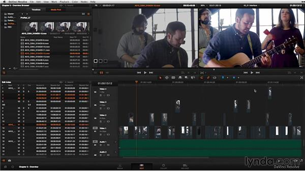 Interface overview: DaVinci Resolve 11 Essential Training
