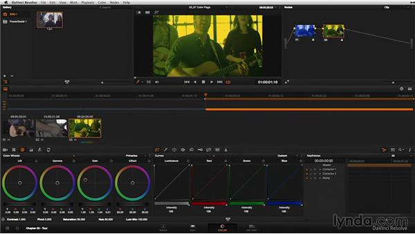 Digging deeper: The Color page: DaVinci Resolve 11 Essential Training