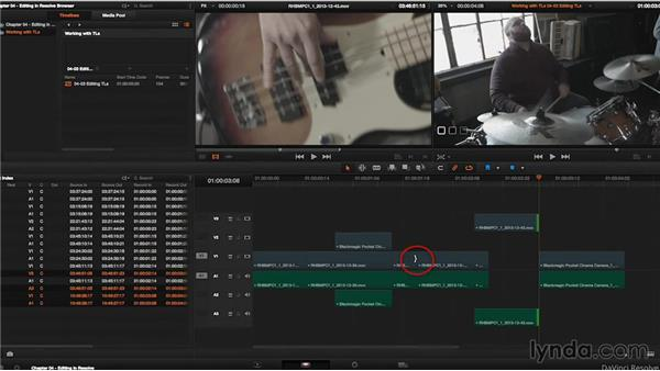 Working in the Edit mode: DaVinci Resolve 11 Essential Training