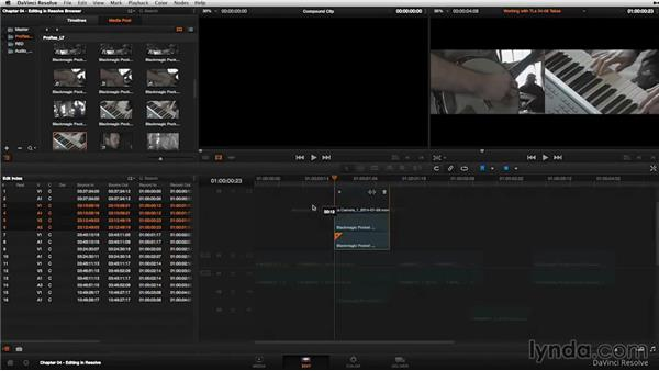 Nested timelines and alternative takes: DaVinci Resolve 11 Essential Training