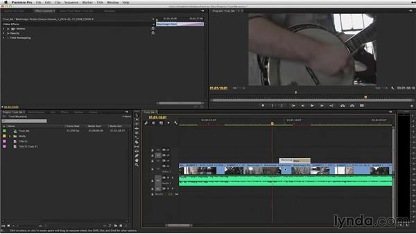How to prepare a timeline for color correction: DaVinci Resolve 11 Essential Training
