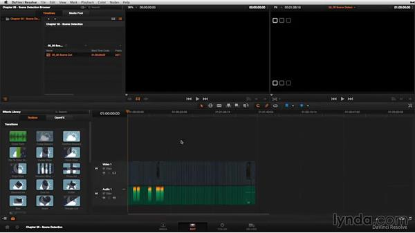 Automatic scene detection: Refining and checking your timeline: DaVinci Resolve 11 Essential Training