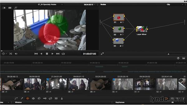 Specialty nodes: The Layer Mixer and Parallel nodes: DaVinci Resolve 11 Essential Training