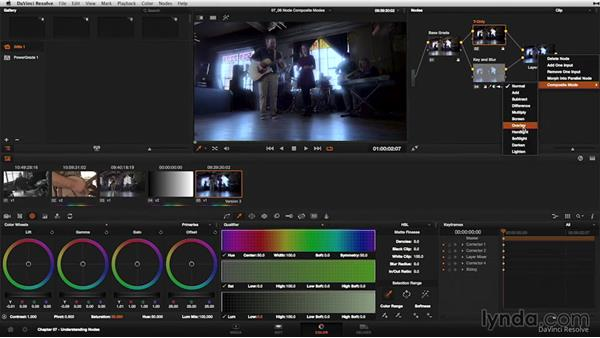 Composite modes in the Layer Mixer node: DaVinci Resolve 11 Essential Training