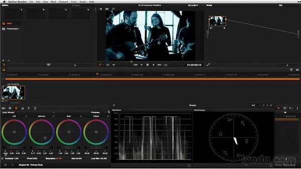 Color wheels: Keyboard modifiers: DaVinci Resolve 11 Essential Training