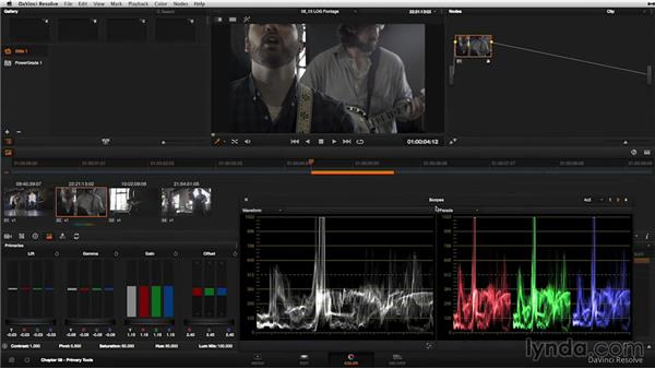 Working with log footage: DaVinci Resolve 11 Essential Training