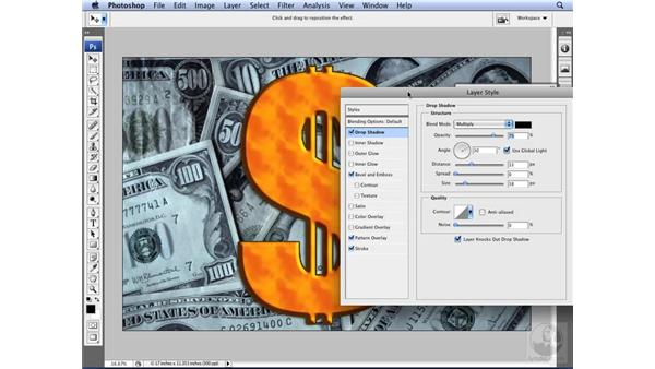 Using the Layer Style dialog box: Photoshop CS3 for Designers