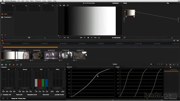 Working with LUTs in the node tree: DaVinci Resolve 11 Essential Training