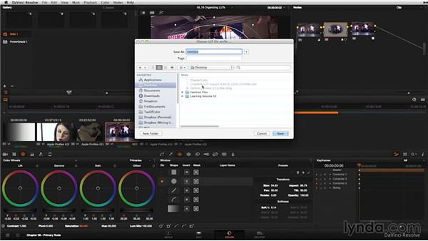 Create, import, and organize your LUTs: DaVinci Resolve 11 Essential Training