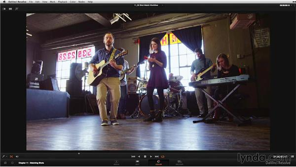 Building a correction when shot matching: DaVinci Resolve 11 Essential Training